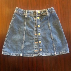 H&M Button Down Denim Skirt 4